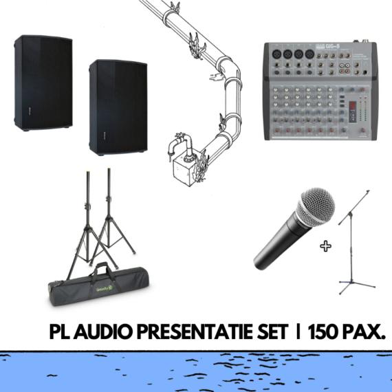 presentatie set professioneel geluid